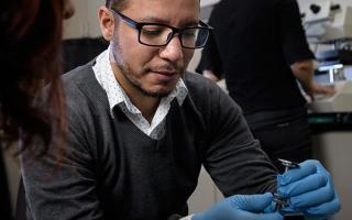 UNT PhD electrical engineering student Gustavo Lara Saenz