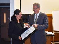 Dr. Mehta receives award from the dean